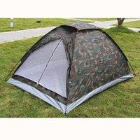 камуфляж летние палатки оптовых-2 человека однослойная палатка оксфорд ткань PU водонепроницаемое покрытие 4 сезона камуфляж кемпинг походная палатка на открытом воздухе 200 * 140 * 110 см