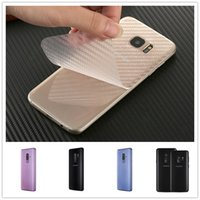 filzfaser großhandel-Für iphone x xs xr max 5s se 5c 7 8 plus weiche transparente kohlefaser rückenschutz anti-dirt matte gefühl filme
