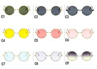 Wholesale sunglasses color order for sale - Group buy 2019 Popular fashion sunglass Men s Women s Round frame sunglasses outdoor sport googel Glasses fast ship Mix color order