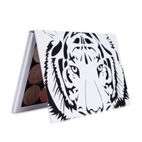 Wholesale leopard palette resale online - New Palette Magnetic Makeup Leopard White Magnetic Palettes For Eye Shadow Red Lip Blush Makeup Tool