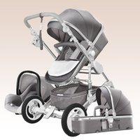 trolley kinder großhandel-Multifunktions-Kinderwagen mit Autositz, 2 in 1 hoher Landschaftskindwagen für 0 ~ 36 Monate Kinder, Kinderwagen / Kinderwagen,