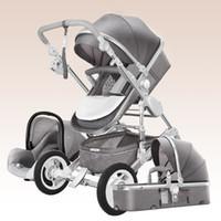 ingrosso carrello elevato per bambino-Passeggino multifunzione con seggiolino auto, 2 in 1 carrello per bambini alto paesaggio per 0 ~ 36 mesi bambini, passeggino / carrozzina,