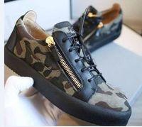 мужчины размер 16 кроссовки оптовых-2019 горячая Бесплатная доставка Zanotti женская обувь высокое качество черный кроссовки роскошные ZIP кроссовки мужчины низкая обувь сращивания пара обувь размер 36-47