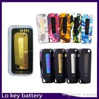 v vape batería al por mayor-Lo Key Battery Flip Vape 350 mah Precalentamiento 3 Configuración Voltaje 2.4 3.2 4.2 V Para cartuchos de Vape VS imini vmod palm 0266251