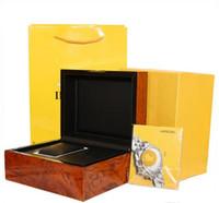 ingrosso scatole di legno per regali-orologi Baode offrire alta qualità della vigilanza di dialogo Certificato sacchetti di carta scatole originali per Breitling uomini di legno mens orologi Gift Box