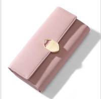 bayan kartı cep telefonu sahibi cüzdan toptan satış-Yeni bayanlar cüzdan moda debriyaj çanta toka cep telefonu sikke tutucu uzun cüzdan tasarımcı tasarım bayanlar kart paketi