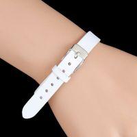 Wholesale leather wrist cuff for women for sale - Group buy Fashion Single Belt Leather Friendship Wide Bracelet For Men Buckle Vintage Punk Jewelry Women Adjustable Wrist Cuff Bracelet