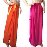 ingrosso gonna arancione costume da bagno-Yvonne Women Swim Sunscreen Bikini Chiffon Sarong Fessura sul bordo della gonna da spiaggia Maxi Swimwear Costume da bagno (arancione)