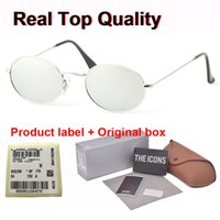 Wholesale vintage classic eyewear for sale - Group buy Classic Oval Sunglasses Men Women brand designer Alloy Frame Vintage Eyewear Driving Unisex Sun Glasses with cases and label