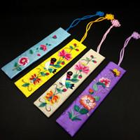 ingrosso souvenir tradizionali-Ricamo Segnalibro Cinese tradizionale stile regalo tessuto stoffa cinese nodo Bookmarker favore di partito Souvenir di viaggio Y0028