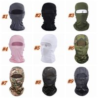 Wholesale outdoor sport military tactical resale online - 13 styles Cycling Masks in Barakra Hat Caps Outdoor Sport Ski Mask CS Windproof Dust Headgear Camouflage Tactical Mask ZZA1337