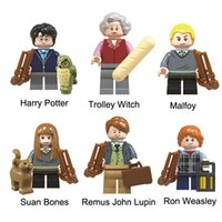 ingrosso le figure delle ossa-Harry Potter Trolley Strega Malfoy Susan Bones Remus John Lupin Ron Weasley Mini Action Figure Toy Building Block Mattoni