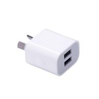 iphone akıllı cep telefonu toptan satış-Çift arayüz 5 V 2A AU Fiş USB Duvar Şarj Güç Seyahat AC Adaptörü için Akıllı Telefon Cep Telefonu Cep Telefonu