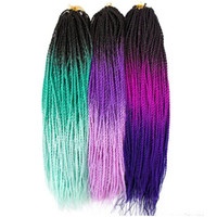 Wholesale purple ombre kanekalon braiding hair resale online - Xiuyuan Hair Synthetic Ombre Kanekalon Braiding Hair Senegalese Twist Crochet Braids Hair Extensions inch Roots Pack