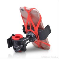 bisiklet hücresi tutacağı toptan satış-Bisiklet telefon tutucu iphone samsung huawei için cep cep telefonu gps gidon için bisiklet montaj tutucu tutucu braketi