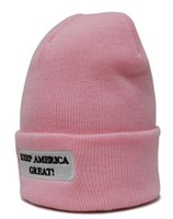 Wholesale Trump Beanies Cap Beanie Re Election Keep America Great Letter Knitting Hats Embroidery winter hat Sports Cap