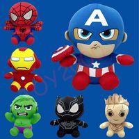 лучшие пакеты игрушек оптовых-Marvel Фаршированная Кукла Приходят с OPP Упаковка 20 СМ Высокое Качество Куклы Мстители Плюшевые Игрушки Лучшие Подарки Для Детей Игрушки