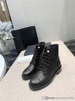 Wholesale match buckle boots for sale - Group buy Hot selling pearl simplicity in autumn winter Fine fashion black cowhide boots Antiskid and Wear Resistant Rubber Bottom Matching Box