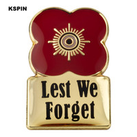 Wholesale flower brooches resale online - Lest We Forget Poppy Flower Lapel Pin Flag Badge Lapel Pins Badges Brooch XY0467