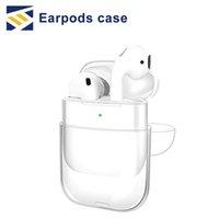 su geçirmez çanta kulaklık toptan satış-Şeffaf Kablosuz Kulaklık Şarj Kutusu Kapak Çanta Su Geçirmez dayanıklı Apple AirPods AirPods için Sert PC Koruyucu Kılıf Kapak