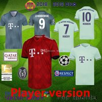 joueur achat en gros de-Bayern Munich Player Version 18 19 Maillot de foot MULLER WAGNER goretzka 2018 2019 LEWANDOWSKI JAMES Maillot de foot COMAN Camiseta maillot