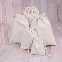 простой холст рюкзак оптовых-Хлопок drawstring мешок холст drawstring мешок двойной плечо рюкзак обычная строка сумка Bg205