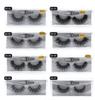 Wholesale curl mix resale online - Multistyles d Mink Hair Fake Eyelash Thick real mink HAIR false eyelashes natural Extension fake Eyelashes