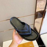 homens thongs frete grátis venda por atacado-Mirabeau Thong 1A58EE Designer De Luxo Sandálias Homem Chinelos de Dois Tons de Fita Clássico Moda Chinelo Top Quality wWth Box frete grátis