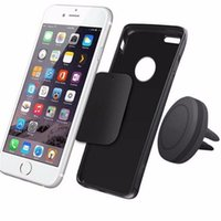 Wholesale rubber phone holder for car online – Franchise Car Magnetic Air Vent Mount Holder Stand for Mobile Cell Phone iPhone GPS Rubber and Metal