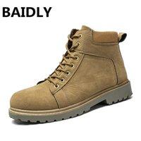 neue stil schuhe männer stiefel großhandel-BAIDLY NEW Style Herren Stiefel Leder Winter Herbst Qualität Männlich Outdoor Casual Bequeme Schuhe Soft Man Ankle Boots