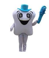 escova extravagante venda por atacado-2019 de alta qualidade quente Adulto Bonito BRANDA Dos Desenhos Animados New Professional Azul Escova Dente Dente Traje Da Mascote Do Traje Da Mascote Venda Quente traje do Partido