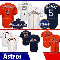 ko großhandel-Houston Trikot Astros 27 Jose Altuve Trikot 34 Nolan Ryan 5 Jeff Bagwell Trikots 4 George Springer 7 Craig Biggio Coolbase Trikot