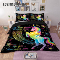 Wholesale bedding duvet children resale online - LOVINSUNSHINE Children Bedding Set Single Bedding And Bed Sets Home Textile Unicorn Cartoon Lovely Kids Duvet Cover Set AB
