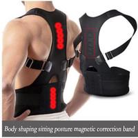 ingrosso schienale delle spalle-Correttore posturale di Wholsale Terapia magnetica Brace Shoulder Back Support Belt per uomini Donne Bretelle Supporta postura spalla cintura