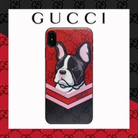 Wholesale rabbit phone case cover online – custom Hot High end Luxury Designer phone case for iphone X XR Xs Max plus Plus Top Quality Leather Cover Case Bear Rabbit Print