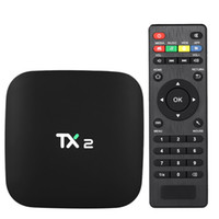 Wholesale tx2 tv box resale online - TX2 Smart Android TV Box Android Rockchip RK3229 Quad Core UHD K VP9 H Mini PC GB GB DLNA WiFi LAN HD Media Player