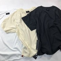 ingrosso camicie doppie-Fear Of God Essentials T-Shirts Uomo Donna 1f: 1 Oversize Solid Double double sided Fear Of God Top Tees