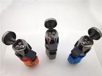 tocha de chama micro venda por atacado-Mini Portátil 3 Jet Flame Tocha De Metal Pistola de Gás Butano Fumar Mais Leve Recarregável Micro Culinária Isqueiro Charuto Isqueiro Dhl Livre