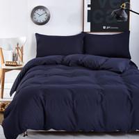 azul púrpura flores ropa de cama al por mayor-Nuevos colores sólidos de estilo y diseño de patrón de cebra, juegos de cama de 3 piezas / 4 piezas sábana colcha edredón / sábana plana / fundas de almohada