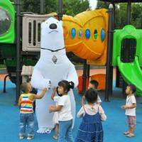 polare tiere großhandel-Aufblasbare Eisbär-Kostüm-Maskottchen-Kostüme Tier Fantasias Erwachsener Weihnachten Halloween-Geburtstags-Party-Kostüm-Maskottchen-Kostüme WSJ-21