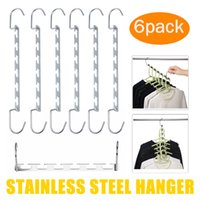 Wholesale plastic clothes hangers for sale - Group buy 6PCS hangers for clothes cloth hanger coat velvet organizer belt baby scarf kids bride space saving hanger clothing space saver