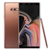 notiz quad core dual sim großhandel-Goophone note9 Hinweis 9 Smartphones mit Pen 6.2 Zoll Android 8.0 Dual SIM gezeigt 128G ROM 4G LTE-Handys