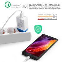 iphone tragbare ladestation großhandel-Sigle USB QC 3.0 Schnellladung Ladegerät Travel Portable 3.1A Home Schnellladung für iPhone Xs Max Samsung S8 S9