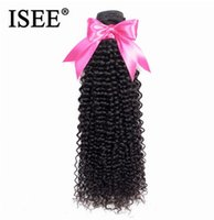 Wholesale chinese kinky curly hair weave for sale - Group buy 2020 New ISEE HAIR Kinky Curly Virgin Hair Extension Human Hair Bundles Malaysian Weaves Can Buy or Bundles Nature Color