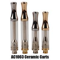 dikey altın toptan satış-AC1003 Kartuşları Dikey Seramik Bobin Altın BUD Dokunmatik Kalın Yağ Atomizer A3 Cartomizer 510 konu Vape Kalem kartuşu