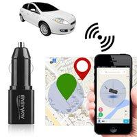 iphone gprs toptan satış-Mini Locator USB Araç Şarj Cihazı Tracker 2 1 LBS içinde 2G GSM GPRS Gerçek Zamanlı Araç Takip Cihazı Uzaktan Sistemi Şarj Dinleme