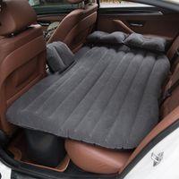 almohadas de aire para acampar al por mayor-Cama de colchón de viaje de aire inflable de alta calidad para automóvil Asiento trasero Múltiples funciones Sofá Almohada Cojín para acampar al aire libre