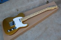 Wholesale guitar hot quality for sale - Group buy new HOT TOP Quality F golden yellow electric Guitar