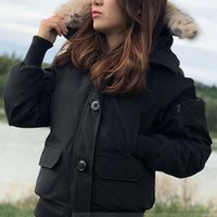 Wholesale black white dog collars for sale - Group buy Winter Down Hooded Jacket Women Bomber Coat Female Brand Designer Outdoor Warm Jackets Luxury Parkas Good Sale