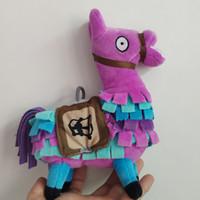 jeux vidéo de boîte à jouets achat en gros de-Fortnite Plush Original Fortnite Surprise Coffre Au Trésor Peluches Troll Stash Llama Alpaca Arc-En-Ciel Quinzième Jeu jouets